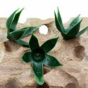 Rose Flower holder, Plastic, Dark green, 4cm x 4cm, 10 pieces, [ST1229]